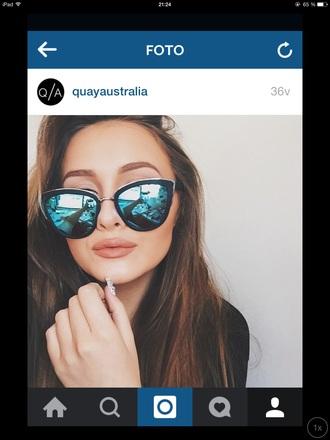 sunglasses cat eye mirrored sunglasses
