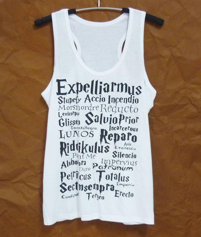 Expelliarmus tank top witch white shirt size s/m/l/xl singlet women,teen tshirt