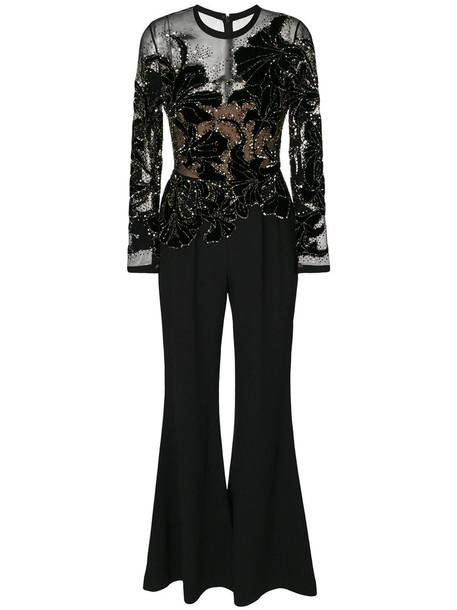 Elie Saab jumpsuit sheer women spandex black
