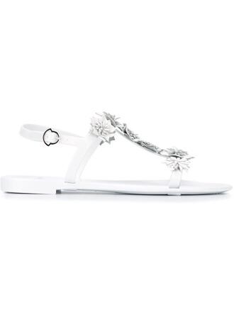 sandals floral white shoes