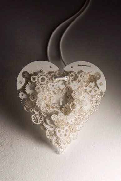 jewels necklace heart mechanical