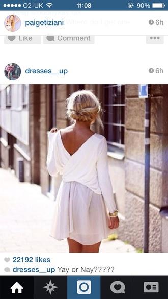 blouse lilac skirt chiffon skirt backless top white
