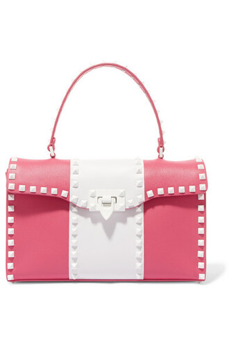 leather pink bag