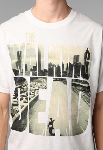 the walking dead white shirt mens t-shirt the walking dead
