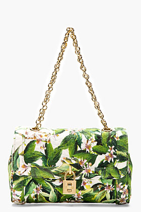 Dolce & Gabbana Green Floral Shoulder Bag for women | SSENSE
