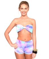 swimwear,marialia,cotton candy,bikini,bow,pink,purple,blue