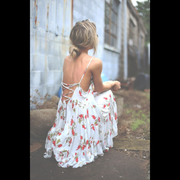 sundress backless dress