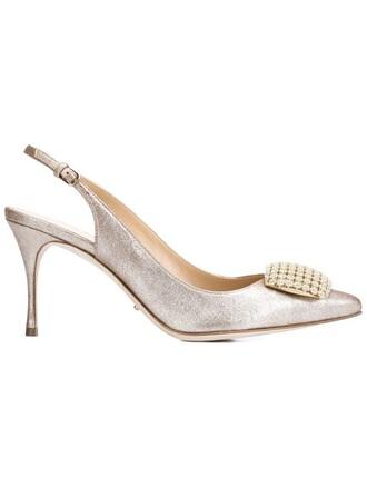 pumps metallic shoes