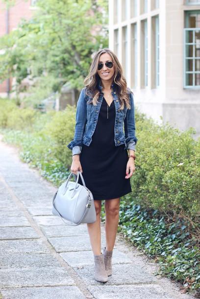 Black dress grey boots