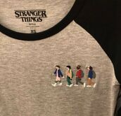 t-shirt,netflix,thsirt,eleven,mike,dustin,lucas,stranger things