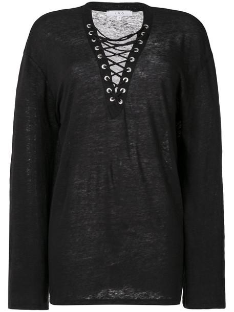 Iro - Alety T-shirt - women - Linen/Flax - S, Grey, Linen/Flax