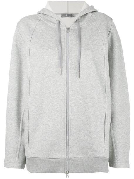 Adidas By Stella Mccartney - Essentials hoodie - women - Cotton/Organic Cotton/Polyester - XS, Grey, Cotton/Organic Cotton/Polyester
