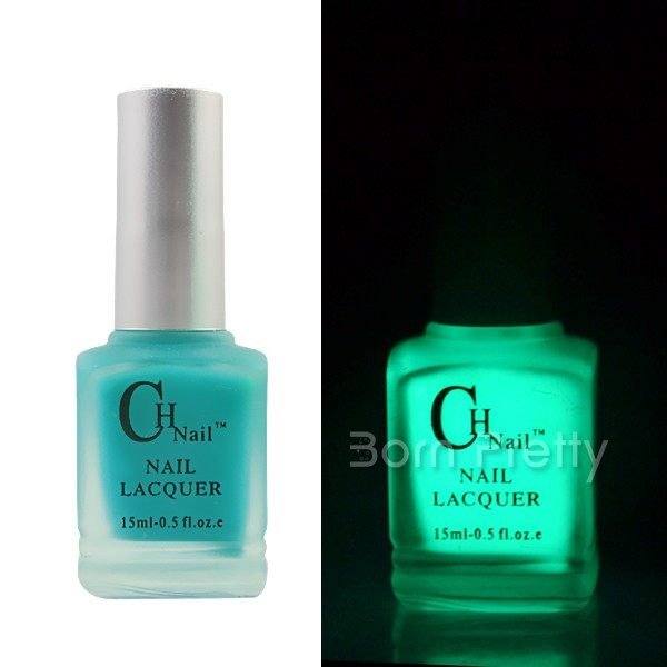 $14.99 15ml Fluorescent Neon Luminous Nail Art Polish varnish Glow in Dark #04 - BornPrettyStore.com