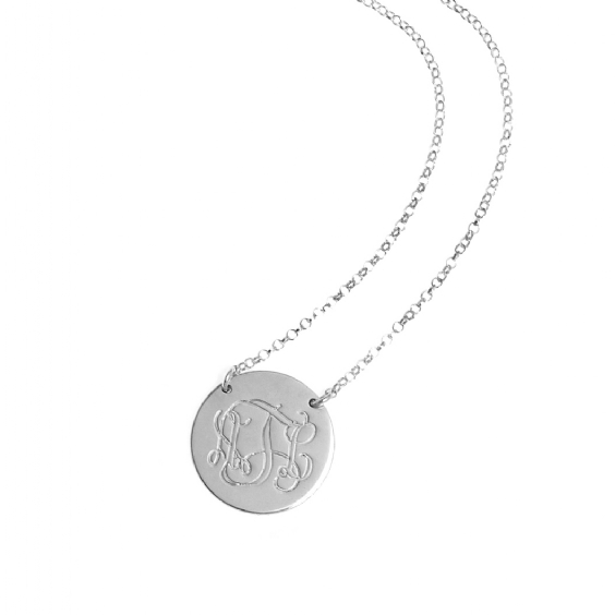 Anna Lou of London : Monogram Disc Necklace