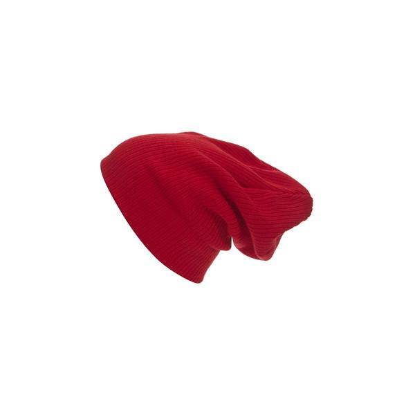 Red Rib Beanie - Polyvore