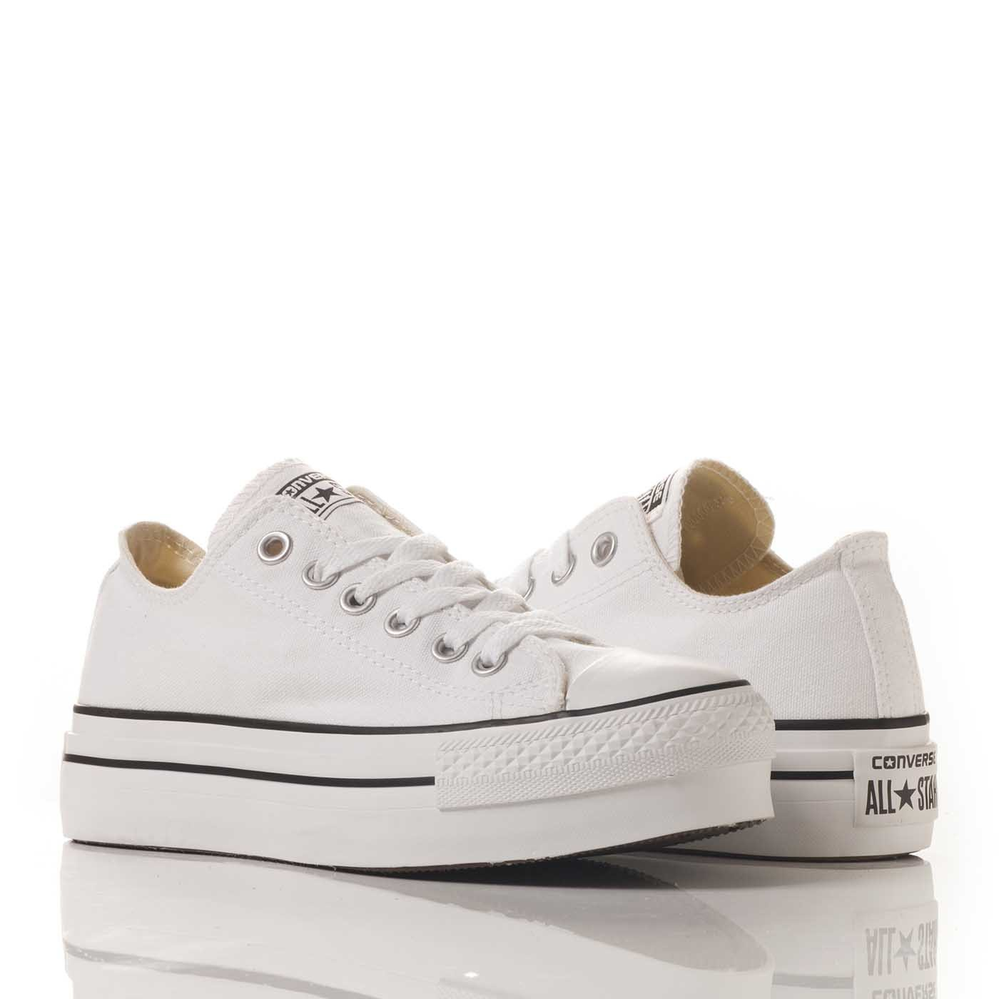 all star ox converse bianche