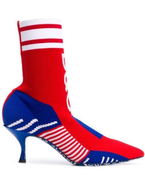 Dolce & Gabbana Logo Sock Boots - Farfetch