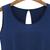 Blue Sleeveless Vintage Floral Chiffon Jumpsuit - Sheinside.com