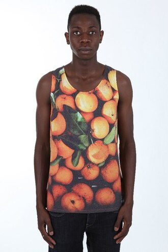tank top fruits citrus print all over print full print orange streetwear streetstyle