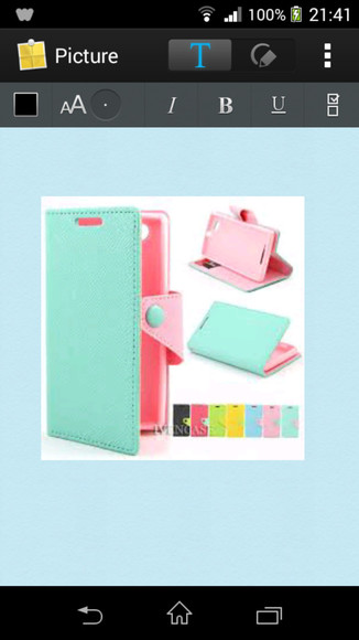 baby blue phone case baby pink