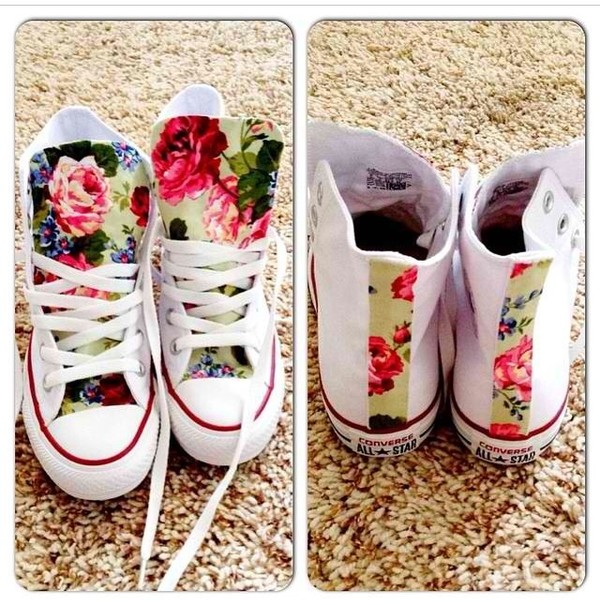 shoes converse rose high top converse converse converse converse floral roses
