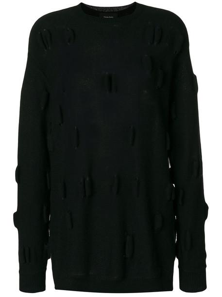 Simone Rocha jumper women black wool knit sweater