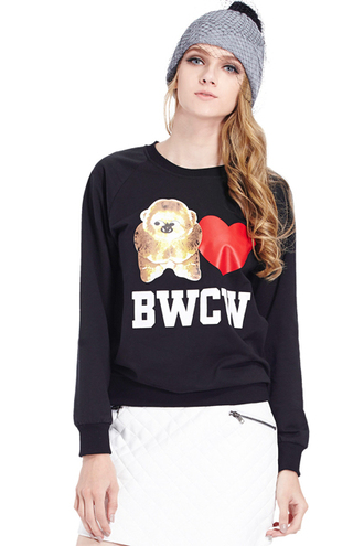 sweater bwcw wolf sloth heart cute pretty sweater cute sweatersd