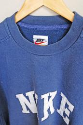 sweater,nike,blue,sportswear,chillin,sweatshirt,swag,nike shoes