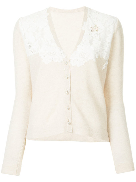 Onefifteen cardigan cardigan women lace floral brown sweater