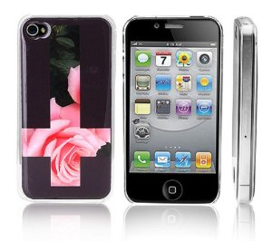 Amazon.com: Transparent Snap-On Clear iPhone Cover Case for 4/4S iPhone -Inverted Cross with Rose - Height:4.5 Inches X Width: 2.5 Inches X Thickness:0.5 Inches.personalized Design Is Available with a Minimum of 20 Pcs Orders.: Cell Phones & Accessories