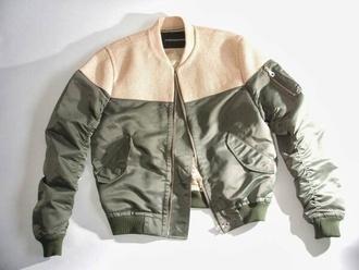 jacket beige khaki green zipper