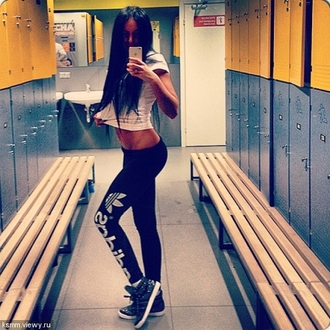 pants adidas sweatpants black tight workout