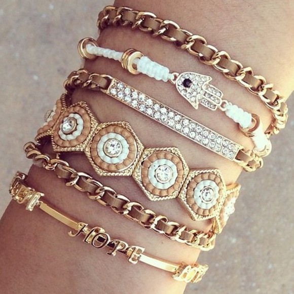 bracelets jewels bling accessories