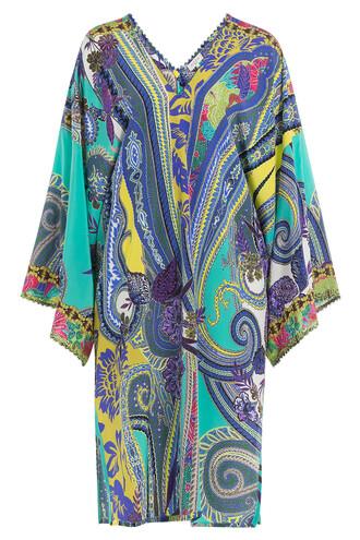 silk multicolor top
