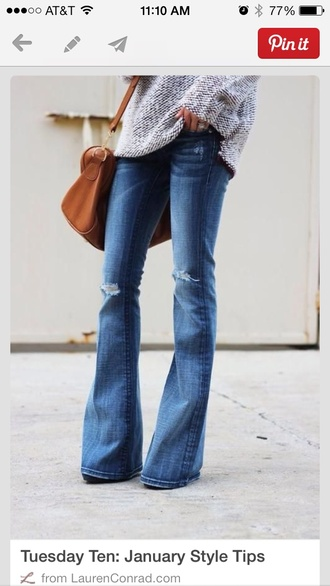 Ripped Flare Jeans - Shop for Ripped Flare Jeans on Wheretoget