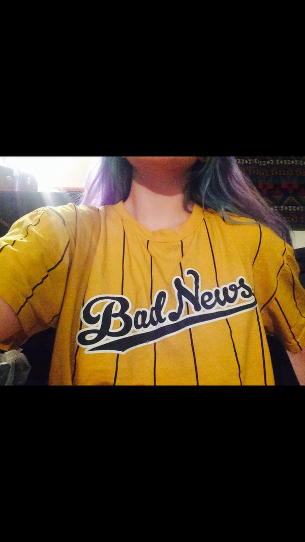 baseball jersey pin stripe baseball tee jersey jersey tee shirt pinstripe yellow gold t-shirt