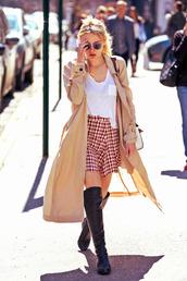skirt,coat,dakota fanning,spring outfits