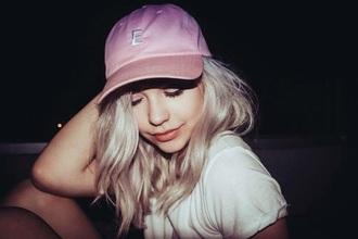 hat amanda steele makeupbymandy24 pink hat