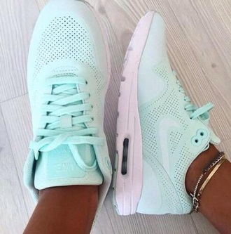 shoes nike pastel mint green tropical air max nike shoes nike sneakers nikes nike air blouse