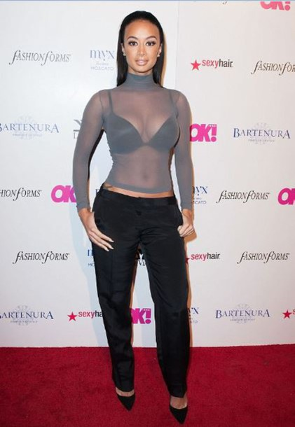 top draya michele sheer pumps pants