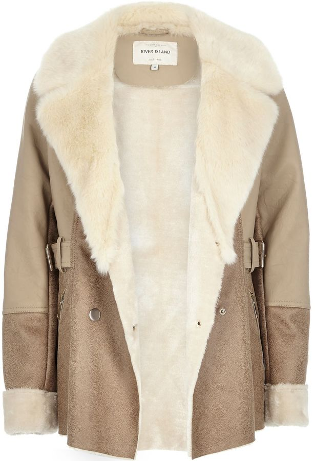 suede and faux fur coat | Gommap Blog