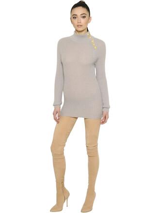 dress mini dress mini mohair grey