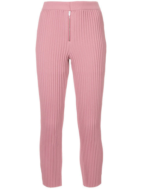 Irene pleated women purple pink pants