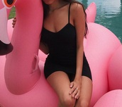 dress,black,romper,black dress,strappy,clothes,short,short dress,bodycon dress,bodycon,madison beer