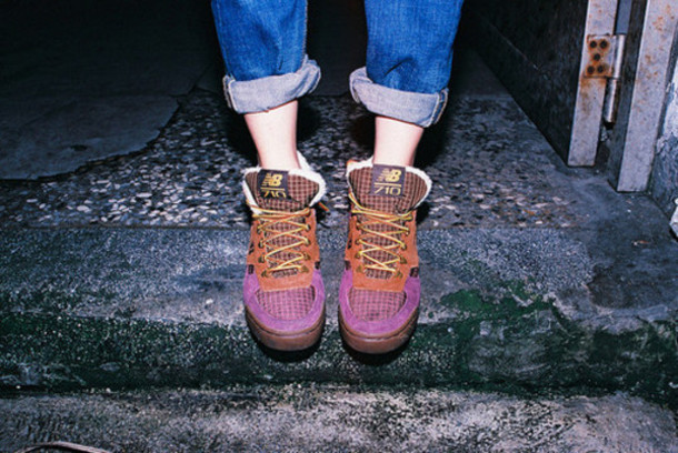 shoes, purple new balance 710, womens