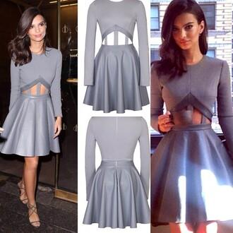 dress lost souls grey dress stunning dress long sleeve dress online shop boutique cute dress cute fashion cut-out dress