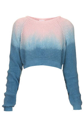 **Drench Cropped Waffle by The Ragged Priest - Knitwear - Clothing - Topshop