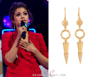 jewels amazing yassssssssssss melinda maria gold pyramids hoop earrings cubic zirconia pretty dangle earrings shiny selena gomez gorgeous boho punkish