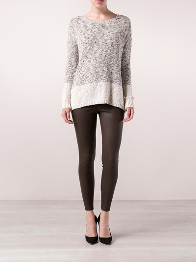 Vince Two Tone Sweater -  - Farfetch.com