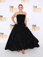 dress,gown,prom dress,red carpet dress,busy philipps,strapless,velvet,velvet dress,diamonds